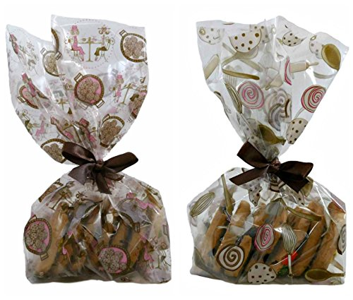 Cello Cookie Treat Party Favor Gift Bags with Ribbon - Premium Cellophane – Perfect for Bake Sale or Cookie Exchange Party - Pack of 100 -