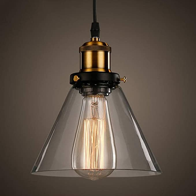 Glighone Lámpara Vintage Lámpara Industrial Lámpara de Techo Lámpara Colgante Lámpara de Pantalla