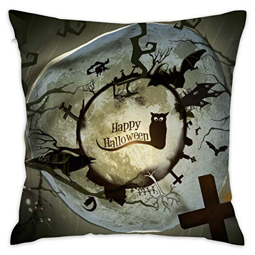 (Feim-AO Halloween Decor Wallpaper Decorative Throw Pillow Square 16
