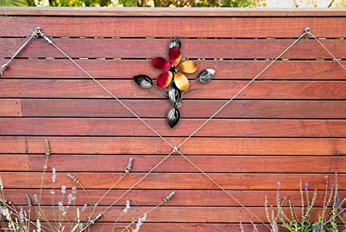 bsart Metal Wall Decor,Wall Art,Wall Sculpture,Metallic Luster,Flower Vine Decor,Indoor and Outdoor,Middle