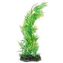 uxcell® Plastic Fishpond Aquarium Artificial Bamboo Water Plant Ornamental Decoration