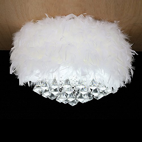 YanCui@ YanCui@ Girl's Room/Bedroom/Living room/Children's room Feather crystal Ceiling light