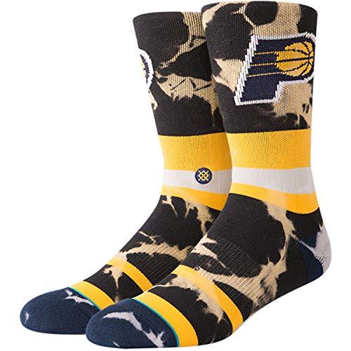 Stance Men's Pacers Acid Wash Socks,Medium,Yellow