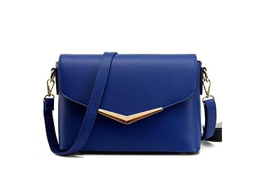 LANDONA La Mujer carteras de piel de otoño, las nuevas mujeres de la manera de las Bolsas, solo hombro hombro, bolso, y la bolsa Negro, Azul: Amazon.es: ...