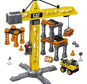 amazoncom mega bloks cat super tower crane toys amp games