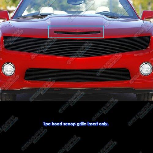 Hood Camaro Scoop (For 2010-2013 Chevy Camaro Hood Scoop Black Billet Grille Grill Insert #N19-H64866C)