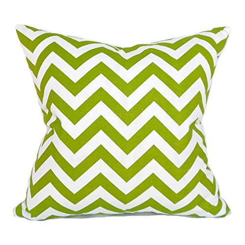 Decorative Throw Pillow Cover Any Size Zigzag Green