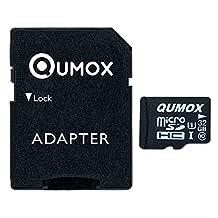 QUMOX 32GB MICRO SD MEMORY CARD CLASS 10 UHS-I 32 GB HighSpeed Write Speed 15MB/S read speed upto 70MB/S