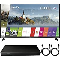 LG 49UJ6300 - 49 UHD 4K HDR Smart LED TV (2017 Model) + 4K Ultra-HD Blu-Ray Player w/ 3D Capability + 2x 6ft High Speed HDMI Cable