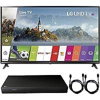 LG 49UJ6300 - 49 UHD 4K HDR Smart LED TV (2017 Model) + 4K Ultra-HD Blu-Ray Player w/ 3D Capability + 2x 6ft High Speed HDMI Cable