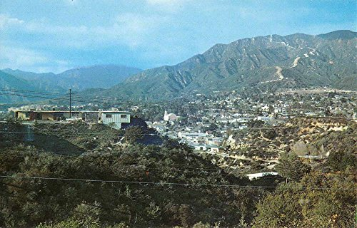 Tujunga California Birdseye View Of City Vintage Postcard K72329