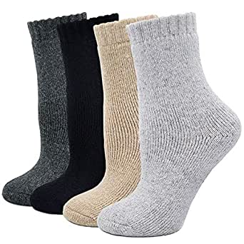 Womens Super Thick Crew Winter Socks, Soft Warm