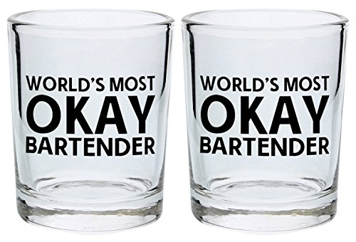 Rehab Kit Dvd (Funny Shot Glasses World's Most Okay Bartender Gifts Bartending Supplies Gift Shot Glasses 2-Pack Round Shot Glass Set Black)