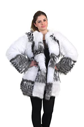 cccd5175c Silver fox with white Fox Fur jacket at Amazon Women's Coats Shop
