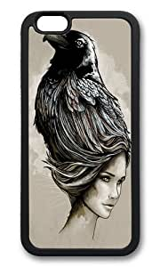 linJUN FENGApple Iphone 6 Case,WENJORS Adorable Raven Haired Soft Case Protective Shell Cell Phone Cover For Apple Iphone 6 (4.7 Inch) - TPU Black