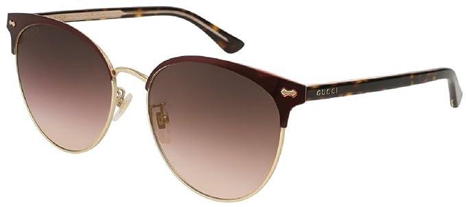 Gucci GG0198SK 005, Gafas de sol para Mujer, Rojo (5/Brown ...