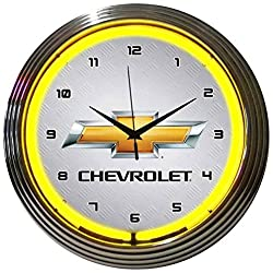 Neonetics Gm Chevrolet Neon Wall Clock, 15-Inch