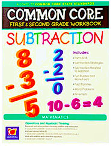 Amazoncom Common Core Subtraction First And Second Grade