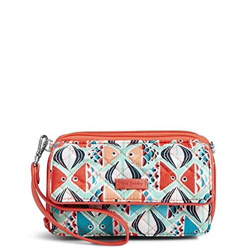 Vera Bradley Iconic RFID All in One Crossbody, Signature Cotton, Go Fish, Go Fish, One Size ()