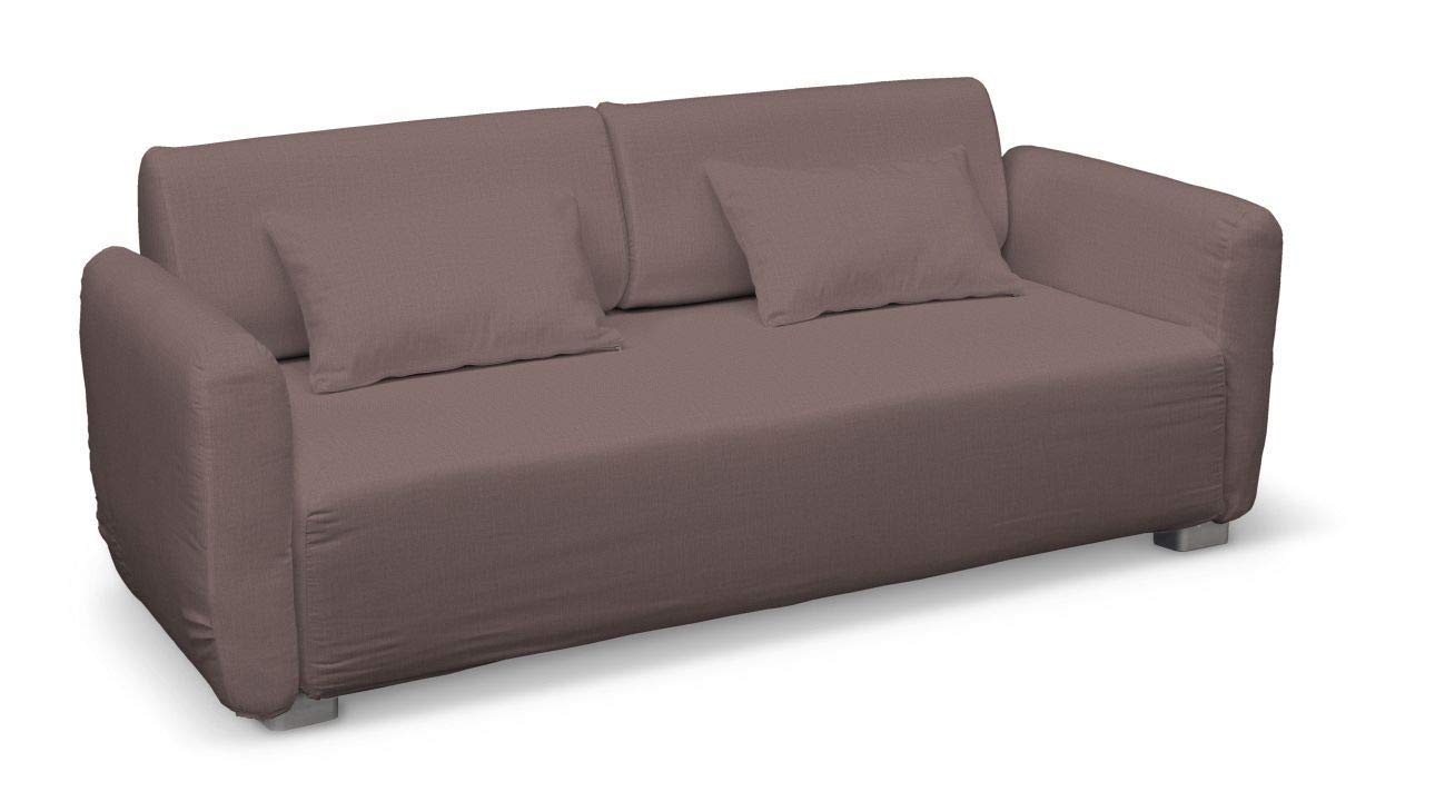Dekoria Mysinge 2-Sitzer Sofabezug Husse passend für IKEA Modell Mysinge braun-violett