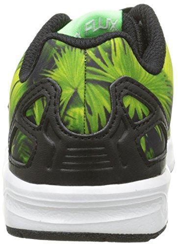 adidas Jungen ZX Flux El I Krabbelschuhe Mehrfarben (Black/Green)