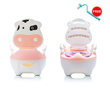 Potty Training Toilet : Amazon lovely cute cow potty chair for boys and girls