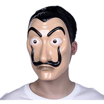 Máscara Dali Mask CASA de Papel Salvador Dali Plástica Mascarilla Realistic Cosplay Máscara de fiesta: Bricolaje y herramientas