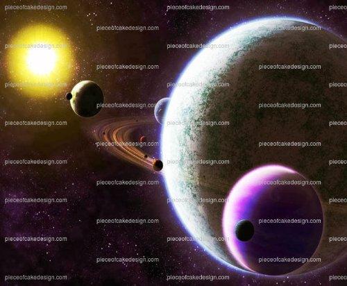 Saturn & otros Planetas Cumpleaños ~ Comestible imagen ...