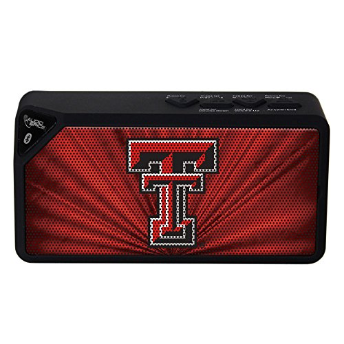 AudioSpice NCAA Texas Tech Red Raiders BX-100 Bluetooth Speaker, Black, 4.25
