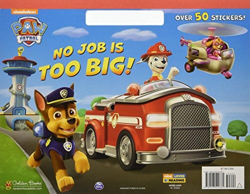 No Job is Too Big! (Paw Patrol) (Big - Interactive Coloring Book
