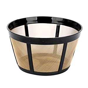 NRP Replacement for BUNN Coffeemaker Gold-tone Permanent Filter 10-cup Basket Mesh Bottom BTX, GRX, HG, HT NHB, NHS, ST & MORE