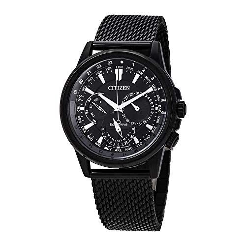 Citizen Calendrier Black Dial Stainless Steel Men's Watch - Dial Black Citizen