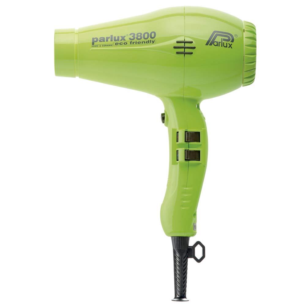 Parlux 3800 - Secador de pelo profesional de cerámica con iones, respetuoso con el medio ambiente, color verde: Amazon.es: Salud y cuidado personal
