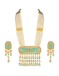 Aheli Indian Ethnic Wedding Wear Kundan Pendant Necklace Set Bollywood Party Traditional Jewelry for Women