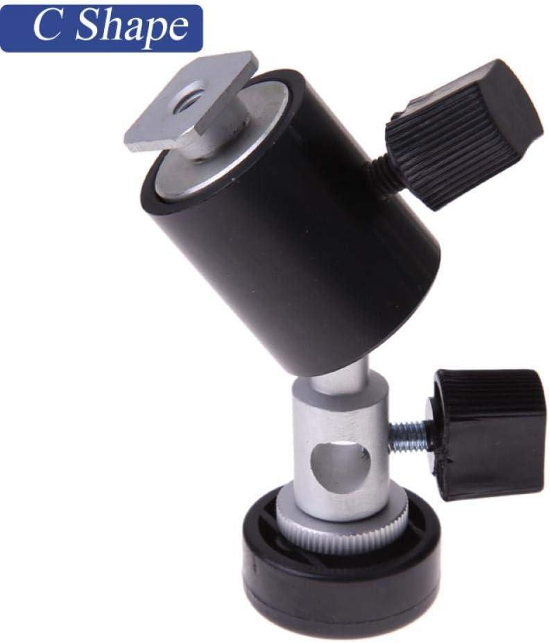 D//E//C Shape Universal Metal Flash Bracket Stand Hot Shoe Speedlite Umbrella Holder with 1//4 to 3//8 Screw Mount Swivel Adapter E Shape