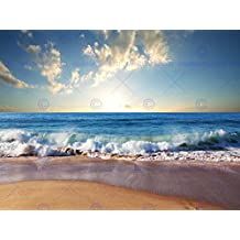 PHOTOGRAPH SEASCAPE BEACH SAND OCEAN SURF WAVES PICTURE ART PRINT POSTER MP5644B