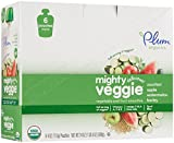 Plum Organics Tots Mighty Veggie Purees-Zucchini, Apple, Watermelon, Barley-4 Ounces-12 Pack