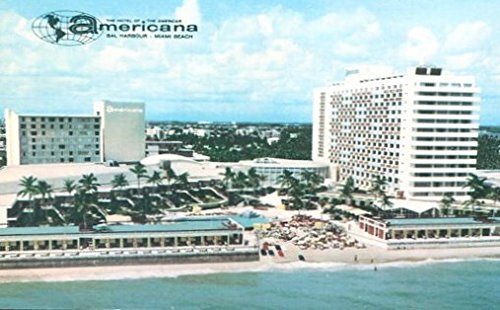 COLLECTIBLE POSTCARD: AMERICANA HOTEL /BAR HARBOUR /MIAMI BEACH FLORIDA /STAMPED AND CIRCULATED WITH MESSAGE - Harbour Miami