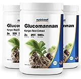 Nutricost Glucomannan Powder 500G (3 Bottles)