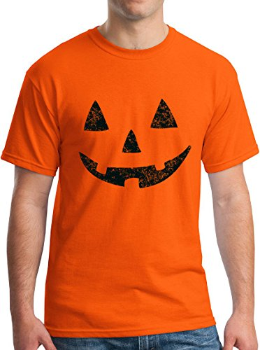 Jack O Lantern Tee Halloween Pumpkin Costume T-Shirt Orange -