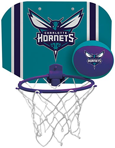 Rawlings NBA Charlotte Hornets Slam Dunk Softee Hoop Set, Small, - Nba Dunk Slam