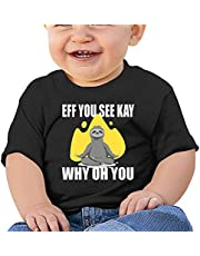 Eff You See Kay Why Oh You Sloth (2) Baby T-Shirts Novelty for Kids Tees with Cool Designs