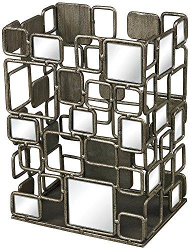 Sterling Vase - Sterling Industries 114-39 Alvis Metal and Antique Mirror Vase