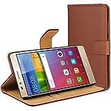 V.T. Huawei GR5 ケース カバー 手帳 型 レザー スタンドケース ブラウン