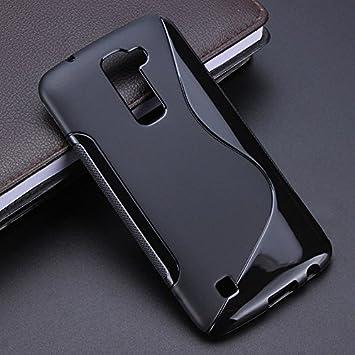 timeless design 9d8e6 ddc60 Clorox Back Cover Plain Black Rubber Back Cover for LG K7 (Black)