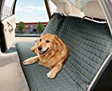 Elegant Comfort Waterproof Premium Quality Bench Car Seat Protector Cover (Entire Rear Seat) for Pets, Gray