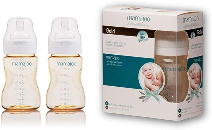 250/ml, Lot de 2 mamajoo sans BPA Biberon PES Valve Syst/ème Anti-Colique