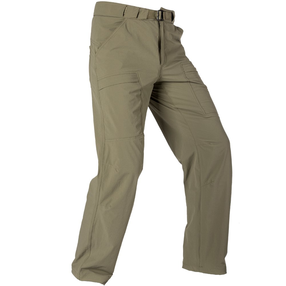 FREE SOLDIER Outdoor Men's Lightweight Waterproof Quick Dry Tactical Pants Nylon Spandex (Mud Color 38W/30L)