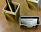 Executive Desk Set, Business Card Holder & Pen/Pencil Holder, Handmade Stained Glass, Mission Style, Great Gift for that Special Guy!