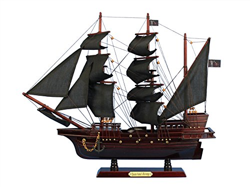 "Blackbeard's Queen Anne's Revenge 20"" - Wood Pirate Ship Mod"